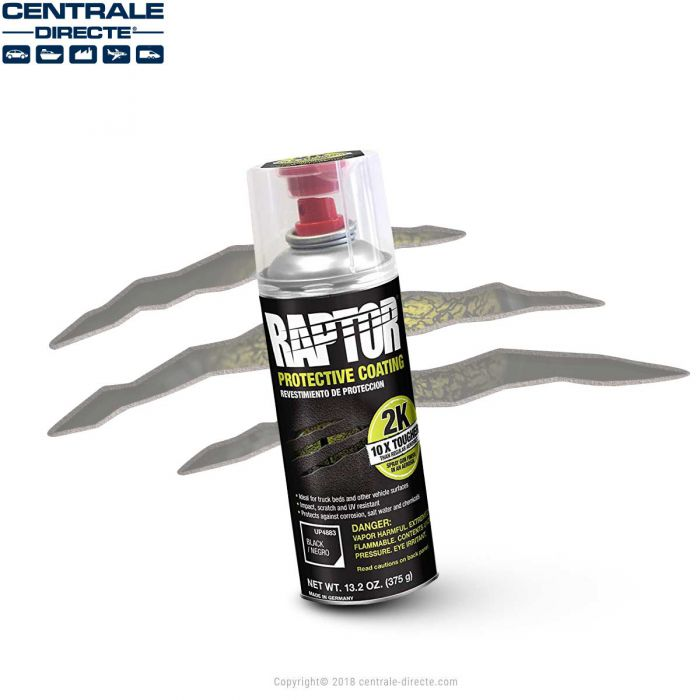 Bombe de peinture Raptor Noir RLB/AL