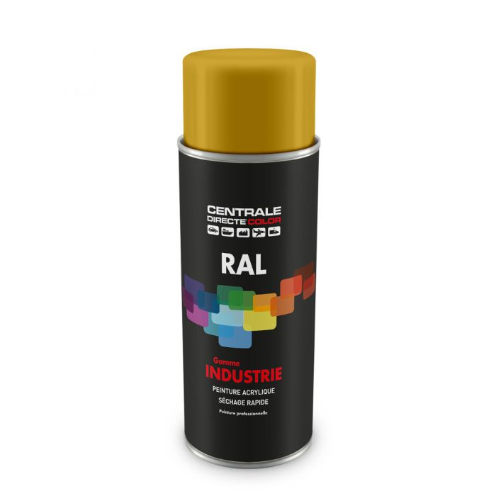 Peinture en spray RAL 1004 Jaune or Brillant CDCRAL1004B