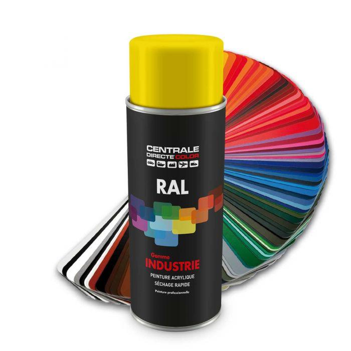 Peinture en spray RAL 1023 Jaune signalisation Brillant CDCRAL1023B