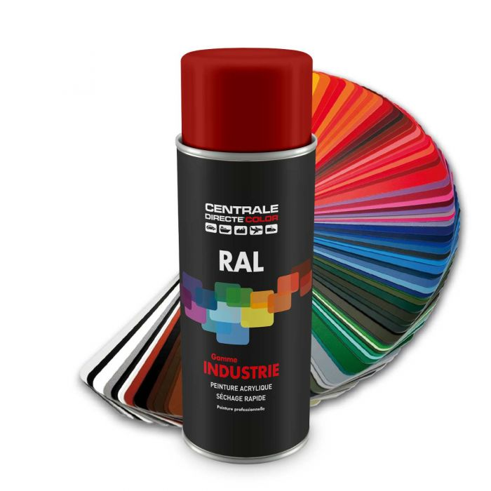 Peinture en spray RAL 3002 Rouge carmin Brillant CDCRAL3002B