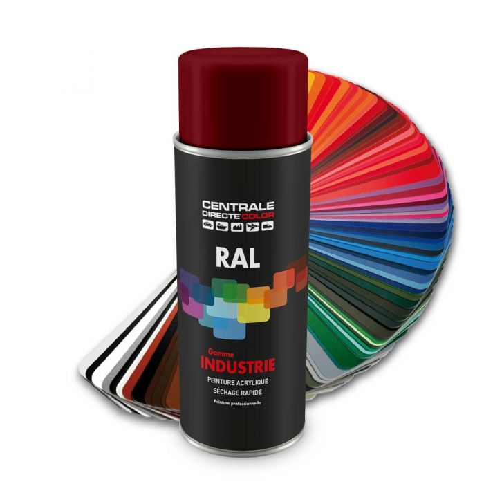 Peinture en spray RAL 3004 Rouge pourpre Brillant CDCRAL3004B