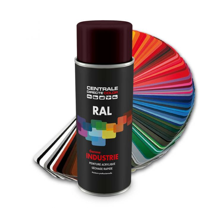 Peinture en spray RAL 3007 Rouge noir Brillant CDCRAL3007B