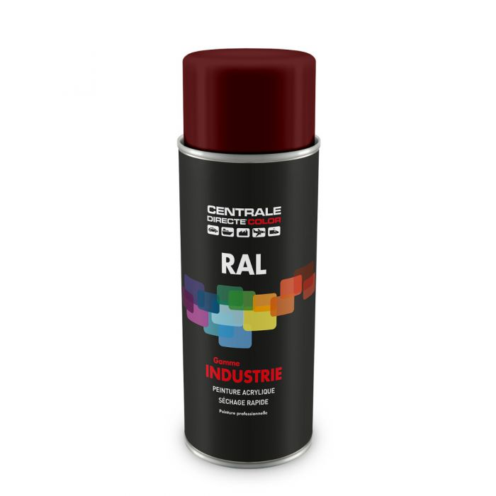 Peinture en spray RAL 3009 Rouge oxyde Brillant CDCRAL3009B