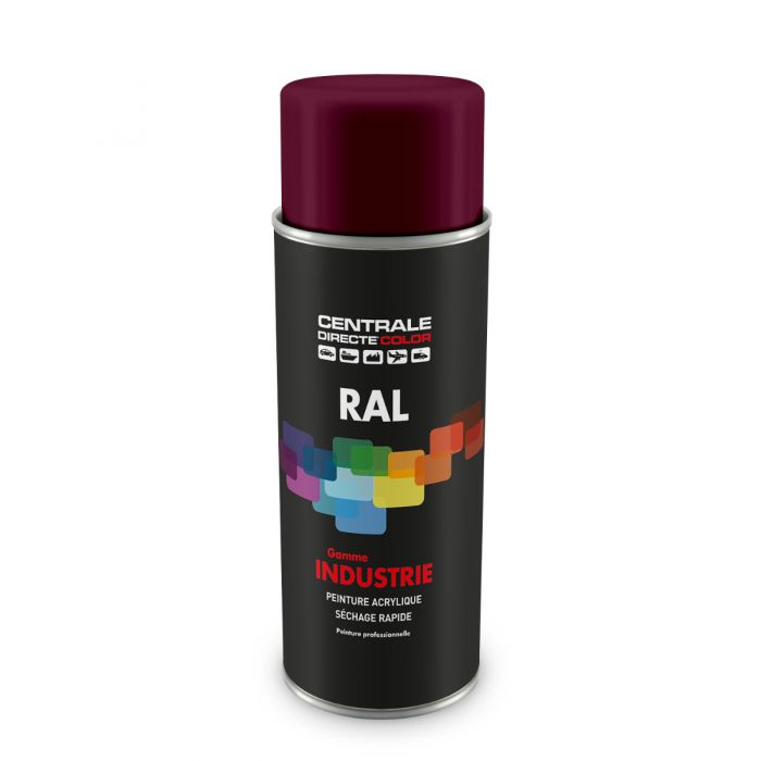 Peinture en spray RAL 4004 Violet bordeaux Brillant CDCRAL4004B