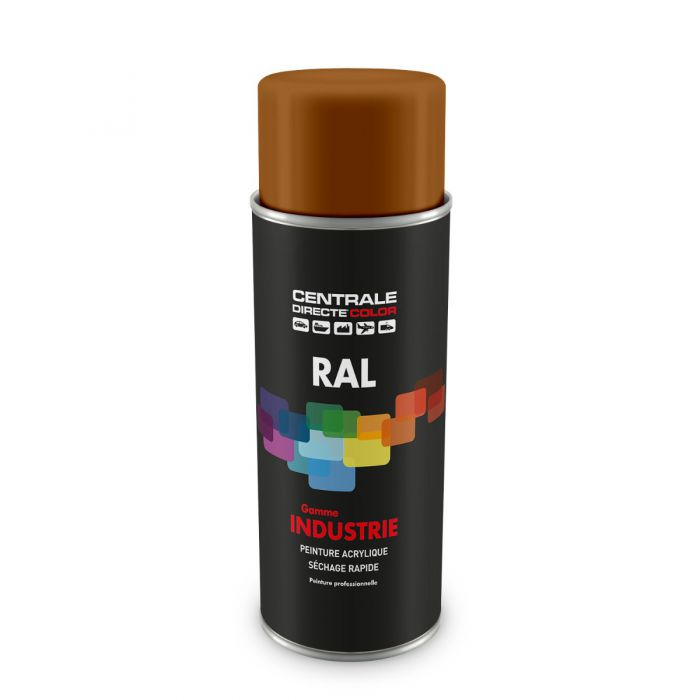 Peinture en spray RAL 8001 Brun terre de Sienne Brillant CDCRAL8001B