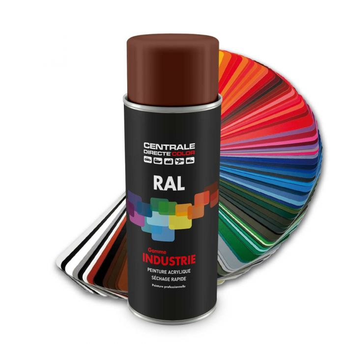 Peinture en spray RAL 8002 Brun de sécurité Brillant CDCRAL8002B
