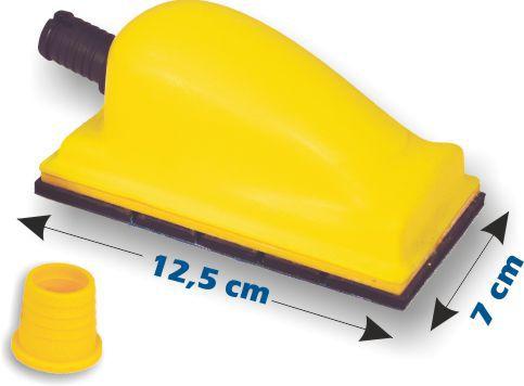 Cale aspirante Velcro petit modèle 125 x 70mm CAS288