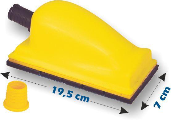 Cale aspirante Velcro petit modèle 195 x 70mm CAS289