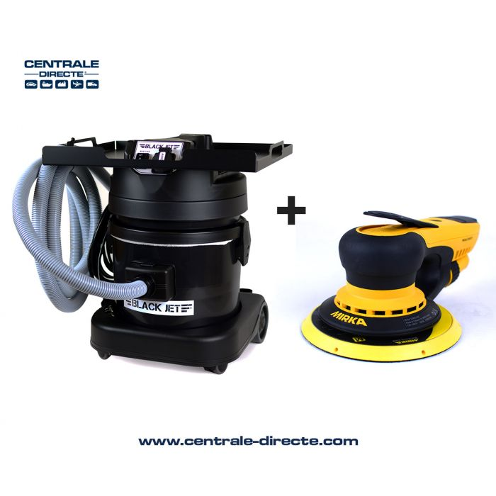 Centrale aspirante Black Jet + coffret ponceuse électrique Mirka Deros AK2310LE+DEROS