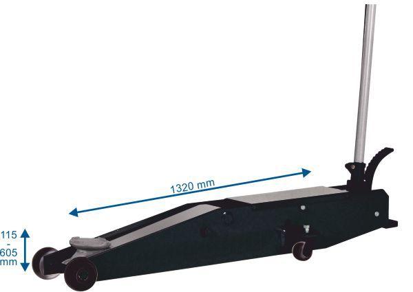Cric rouleur hydraulique 3 T RH301