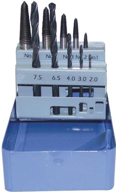 Coffret queues de cochon + forets hss ø2 - ø7.5mm CLOM0653
