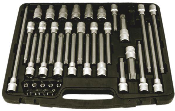 Coffret douilles embouts multi-empreintes 38 pièces CLOM2337