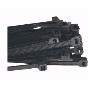 Collier noir nylon par 100 - 200mm x 4,8mm CN200