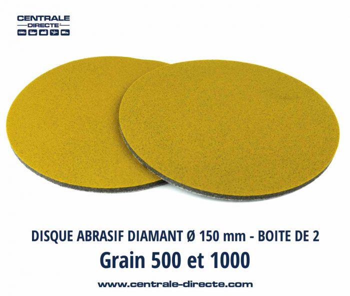 Disque abrasif diamant Ø 150 - Grains P500 et P1000 - DIAX DIAX