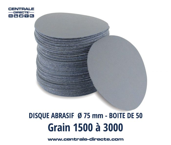 Disque abrasif auto-agrippant Ø75 mm P1500 au P3000 - DMTXS DMTXS