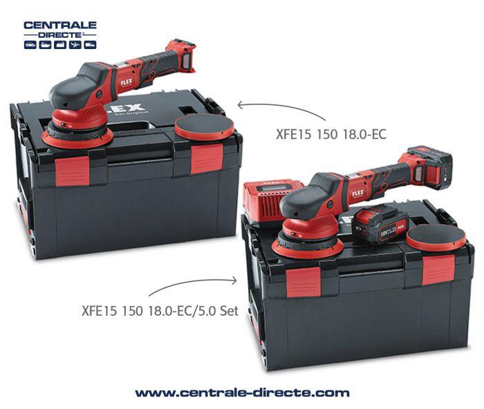 Polisseuse excentrique Flex XFE 15 150 18.0 EC - 5.0 P Set FLEX4