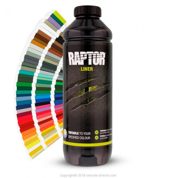 Peinture Raptor texturée  TEINTABLE 1L et 4L - Couleur au choix RLT-1-4-0