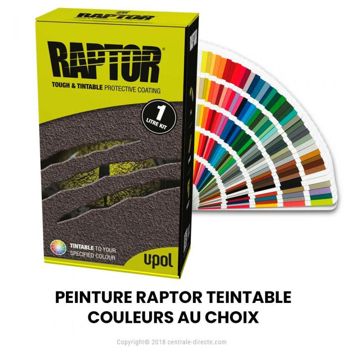 Peinture Raptor texturée  TEINTABLE - Couleur au choix RLT-S