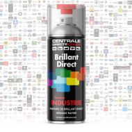 Bombe peinture brillant direct 2K - Durcisseur inclus