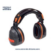 Casque anti-bruit pliable 32 dB - noir/orange