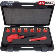 Coffret de douilles isolées 1000V 1/2 avec cliquet rallonge Ks Tools