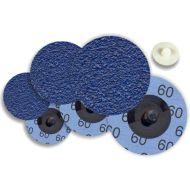 Mini disque fibre Zirconium G80 fixation vis plastique Ø 50mm x 25