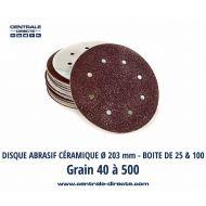 Disque abrasif auto-agrippant 8 trous Ø 203 mm - DVGX
