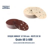 Disque abrasif Ø150mm grain 60 au 600 - DVML