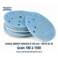 Disque abrasif sur mousse Ø150 mm 15 trous - DMAX