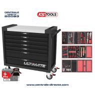 Servante d'atelier KS TOOLS - ULTIMATE XL - 7 Tiroirs avec 263 outils