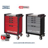 Servante d'atelier KS TOOLS - ULTIMATE - 5 Tiroirs