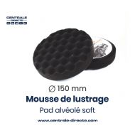 Mousse de lustrage alvéolée - soft - Ø 150mm