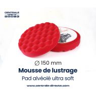 Mousse de lustrage alvéolée - ultra soft - Ø 150mm
