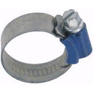 Colliers à vis à bande pleine en INOX 304 ø19 à 28mm