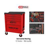Servante d'atelier KS TOOLS - Racing - 5 Tiroirs avec 184 outils