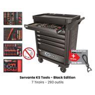 Servante d'atelier KS TOOLS - Black Edition - 7 Tiroirs avec 293 outils