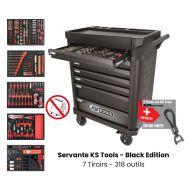 Servante d'atelier KS TOOLS - Black Edition - 7 Tiroirs avec 318 outils