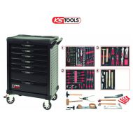 Servante KS TOOLS - Spéciale carrosserie - 7 tiroirs / 166 outils
