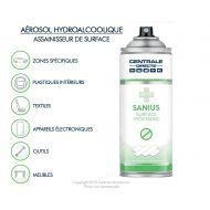 Aérosol hydroalcoolique de nettoyage des surfaces 400ml - Sanius