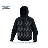 Veste bi-matière  MOOVE - noir/camouflage