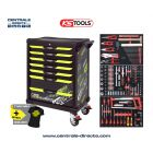 Servante d'atelier KS TOOLS - One By One fluo - 7 Tiroirs avec 251 outils KS823.7251F