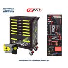 Servante d'atelier KS TOOLS - One By One fluo - 7 Tiroirs avec 260 outils KS823.7260F