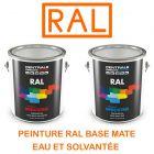 Peinture RAL base mate à vernir - Eau ou solvantée CDCPMAS-CP