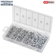 Assortiment de 400 rivets en acier KS TOOLS