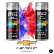 Bombe de peinture Chevrolet base mate tricouche à vernir