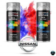 Bombe de peinture Nissan base mate tricouche à vernir
