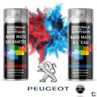 Bombe de peinture Peugeot base à vernir