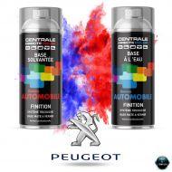 Bombe de peinture Peugeot base mate tricouche à vernir