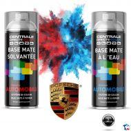 Bombe de peinture Porsche base à vernir