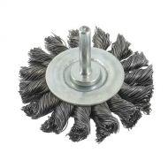 Brosse métalique torsadée 75mm sur tige